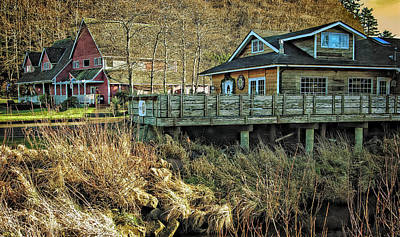 Photograph - Neskowin Trading Company And Cafe On Hawk Creek  by Thom Zehrfeld