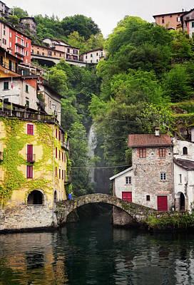 Lake Como Photograph - Nesso On Lake Como Italy by Joan Carroll