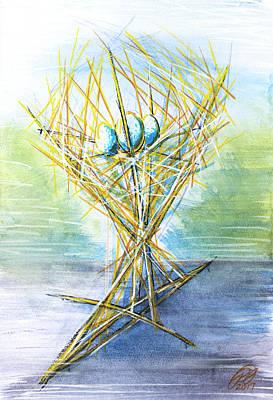 Avant Garde Mixed Media - Nest 01 - Sculpture Concept by Ryan Irish