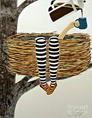 Painting - Nest Service by Jean Fry
