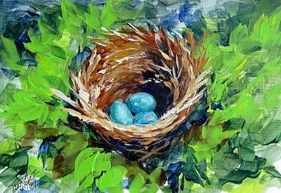 Nesting Eggs Art Print
