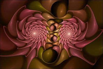 Spiny Digital Art - Nesting Fractal Urchins Coral by Doug Morgan