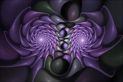Spiny Digital Art - Nesting Fractal Urchins by Doug Morgan