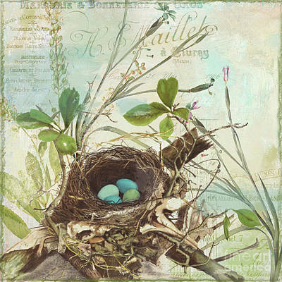 Nest Painting - Nesting I by Mindy Sommers
