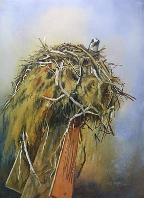 Painting - Nesting Osprey by Kris Parins