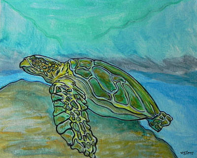 Baby Sea Turtle Painting - Nesting Time by W Gilroy