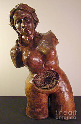 Sculpture - Nesting Woman by Cindy DeGraw