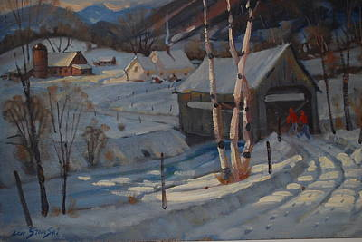Nestled In The Berkshires Print by Len Stomski