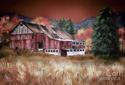 Mountains Digital Art - Nestled In The Laurel Highlands by Lois Bryan