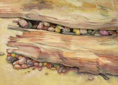 Hranilovich Painting - Nestled Stones by Barbara Hranilovich