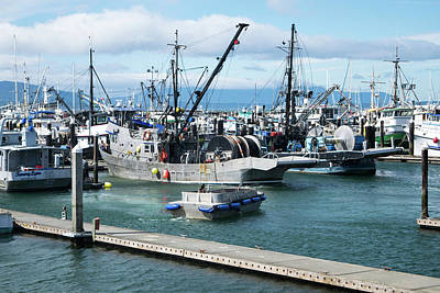 Photograph - Net Drums On Trawlers by Tom Cochran