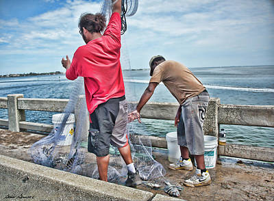 Photograph - Net Fishing On Cortez Bridge  by Glenn Gemmell