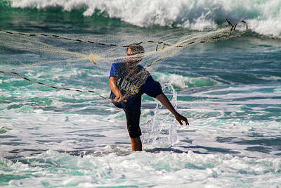 Photograph - Net Fishing by Roger Mullenhour
