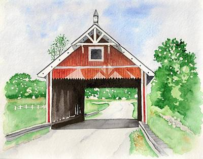 Netcher Road Bridge Art Print by Laurie Anderson