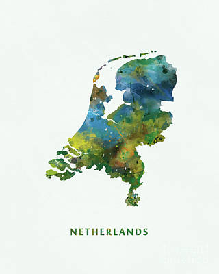 Netherlands Mixed Media - Netherlands by Monn Print