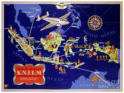 Airways Mixed Media - Netherlands Vintage Travel Poster Restored by Carsten Reisinger