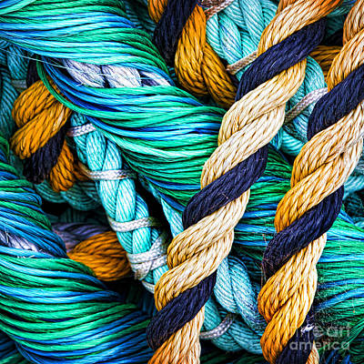 Nets And Knots Number Five Print by Elena Nosyreva