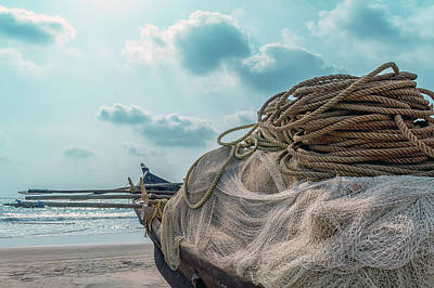 Net Photograph - Nets Are Ready by Stelios Kleanthous