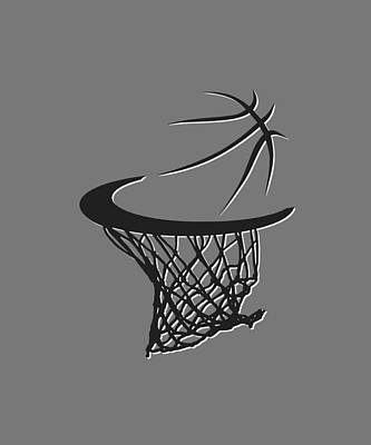 Nets Basketball Hoop Art Print