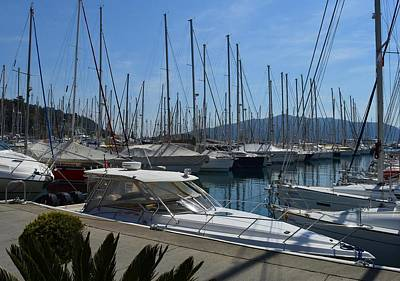 Painting - Netsel Yacht Marina Marmaris Turkey by Tracey Harrington-Simpson