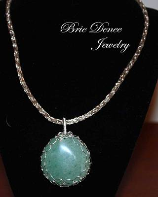 Wire Wrap Jewelry Jewelry - Netted Aventurine On Viking Nit Chain by Brittney Brownell