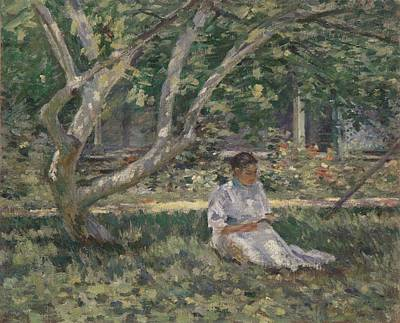 Nettie Reading Art Print by Theodore Robinson