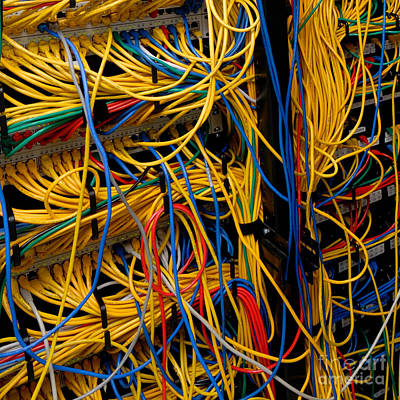 Ethernet Photograph - Network Cables by Amy Cicconi