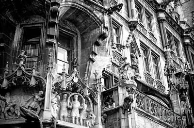 Photograph - Neues Rathaus Details by John Rizzuto