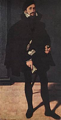 Neufchatel Nicolas Portrait Of Hendrik Pilgram Art Print by Nicolas Neufchatel