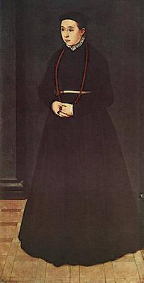 Neufchatel Nicolas Portrait Of The Wife Of Hendrik Pilgram Art Print by Nicolas Neufchatel
