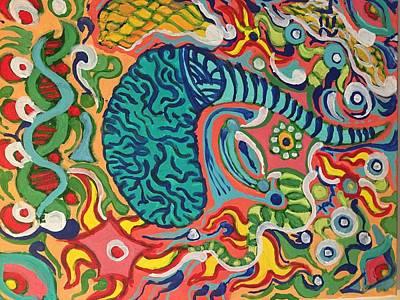 Neuroscience Painting - Neuroscience by Rob Longmire