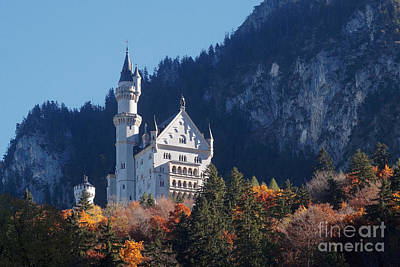 Photograph - Neuschwanstein Castle Bavaria In Autumn 2 by Rudi Prott