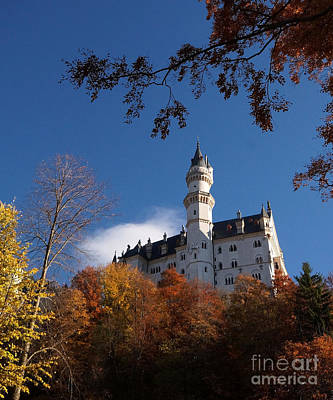 Photograph - Neuschwanstein Castle Bavaria In Autumn 3 by Rudi Prott