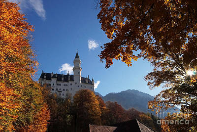 Photograph - Neuschwanstein Castle Bavaria In Autumn 4 by Rudi Prott