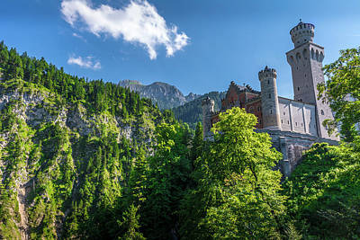 Print featuring the photograph Neuschwanstein Castle by David Morefield
