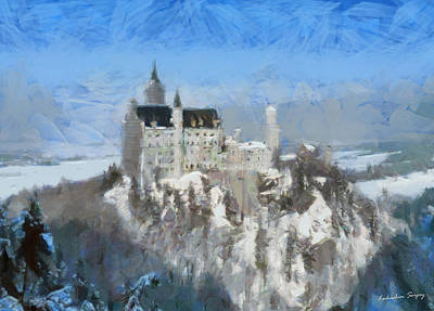 Neuschwanstein Castle Art Print by Sergey Lukashin