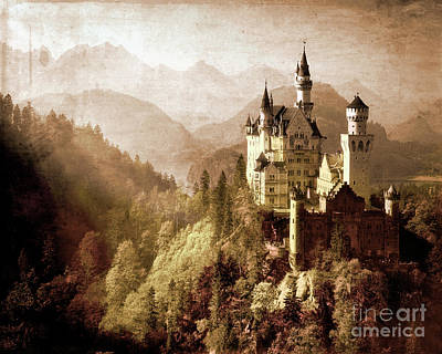 Photograph - Neuschwanstein by Edmund Nagele