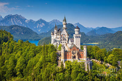 Neuschwanstein Fairytale Castle Art Print by JR Photography