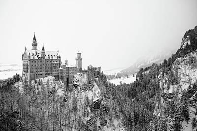 Neuschwanstein In Winter Art Print