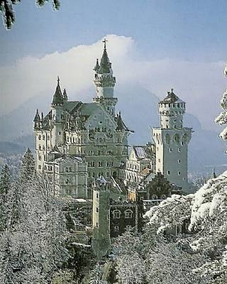 Painting - Neuschwanstein  by Troy Caperton