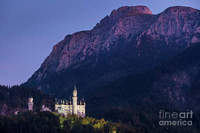 Photograph - Neuschwanstein Twilight by Brian Jannsen