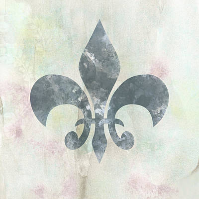 Mixed Media - Neutral Fleur De Lys by Georgiana Romanovna