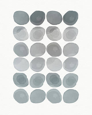 Neutral Stones- Art By Linda Woods Art Print by Linda Woods