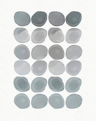 Neutral Stones- Art By Linda Woods Art Print