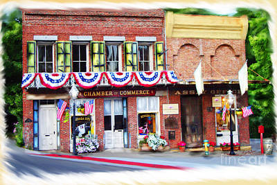 Mixed Media - Nevada City Chamber by Lisa Redfern