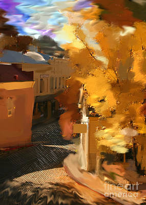 Digital Art - Nevada City In Fall by Lisa Redfern
