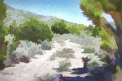 Digital Art - Nevada Desert Highway by Aliceann Carlton