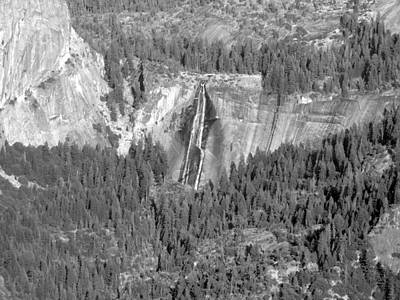 Photograph - Nevada Falls Monochrome by Eric Forster