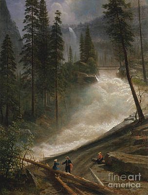 Nevada Falls Yosemite                                Art Print by John Stephens