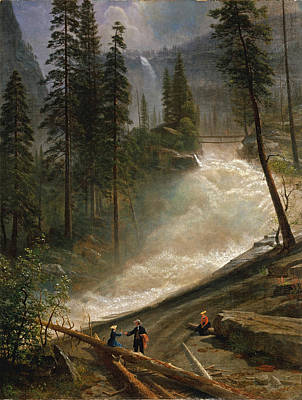 Painting - Nevada Falls. Yosemite by Albert Bierstadt